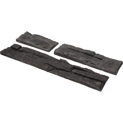 Odyssee Random Sized Manufactured Stone Veneer Wall Tile in Charcoal (Set of 4)