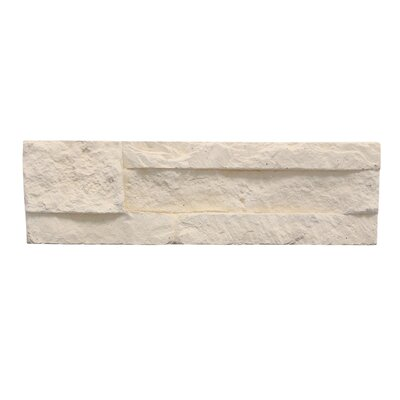 Odyssee Random Sized Manufactured Stone Veneer Wall Tile in Creme (Set of 8)