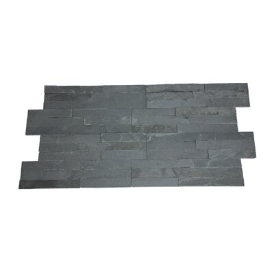 Canyon Random Sized Natural Ledgestone Wall Tile in Charcoal (Set of 6)
