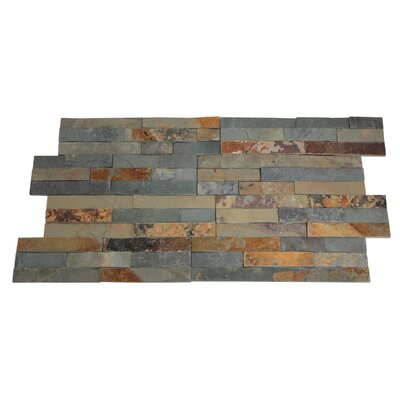Canyon Random Sized Natural Ledgestone Wall Tile in Rustic (Set of 6)