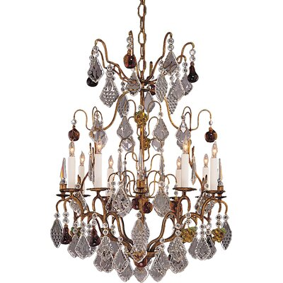 French 8-Light Candle-Style Chandelier