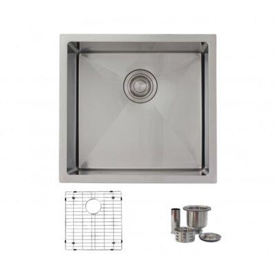 """19"""" x 18"""" Single Bowl Undermount Kitchen Sink S-308G"""