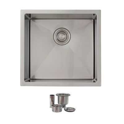 """19"""" x 18"""" Single Bowl Undermount Kitchen Sink S-308"""