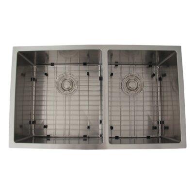 "32"" x 19"" Double Bowl Undermount Kitchen Sink S-305XG"