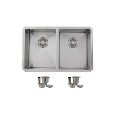 28 x 18 Double Bowl Undermount Kitchen Sink
