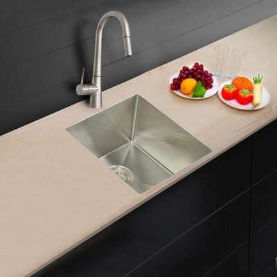 19 x 18 Single Bowl Undermount Kitchen Sink