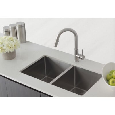 Stainless Steel 30 x 18 Double Basin Undermount Kitchen Sink