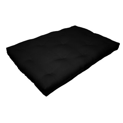 Cotton Futon Mattress Color: Black, Size: 8 H x 78 W x 54 D