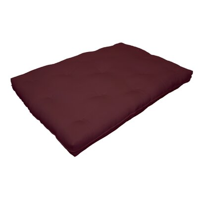 Cotton Futon Mattress Size: 6 H x 74 W x 53 D, Color: Burgundy