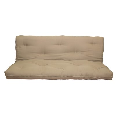 Cotton Futon Mattress Size: 6 H x 74 W x 53 D, Color: Khaki