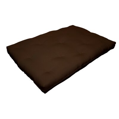 Cotton Futon Mattress Size: 6 H x 74 W x 53 D, Color: Dark Brown