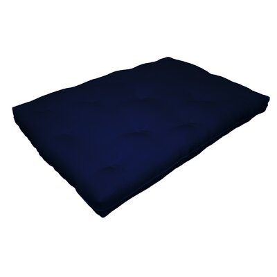 Cotton Futon Mattress Size: 8 H x 78 W x 54 D, Color: Navy