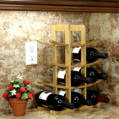 12 Bottle Tabletop Wine Rack Finish: Natural
