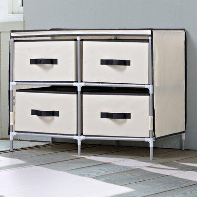 4 Drawer Dresser Finish: Beige
