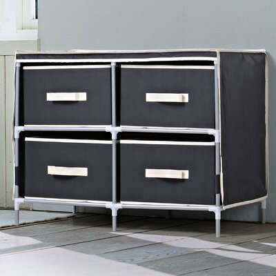 4 Drawer Dresser Finish: Black