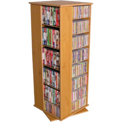 928 CD Multimedia Revolving Tower Finish: Oak
