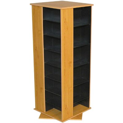 928 CD Multimedia Revolving Tower Finish: Black & Oak
