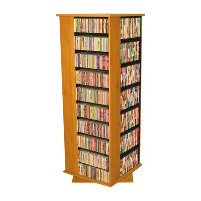 1600 CD Molded Multimedia Revolving Tower Color: Oak