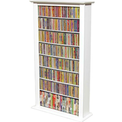 Regular Single Multimedia Storage Rack Finish: White