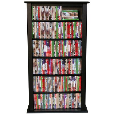 Regular Single Multimedia Storage Rack Finish: Black