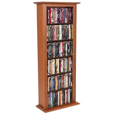 Regular Single Multimedia Storage Rack Color: Cherry