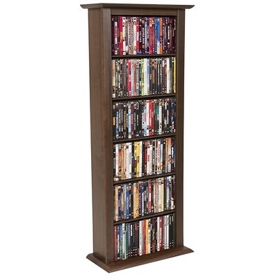 Regular Single Multimedia Storage Rack Finish: Dark Walnut