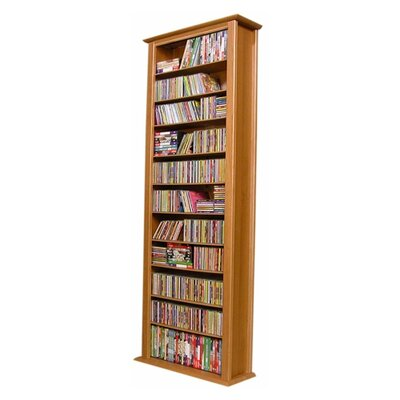 Large Single Multimedia Storage Rack Color: Oak