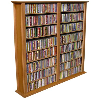 Regular Double Multimedia Storage Rack Finish: Oak