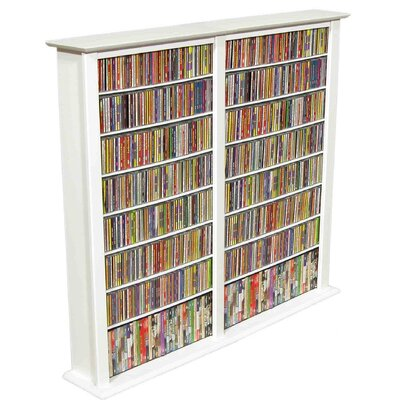 Regular Double Multimedia Storage Rack Finish: White