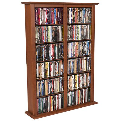 Regular Double Multimedia Storage Rack Finish: Cherry