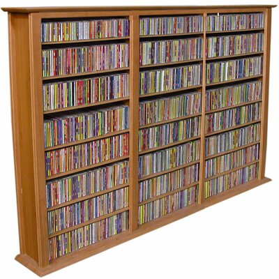Regular Triple Multimedia Storage Rack Finish: Oak