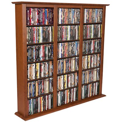 Regular Triple Multimedia Storage Rack Color: Cherry