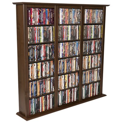 Regular Triple Multimedia Storage Rack Color: Dark Walnut