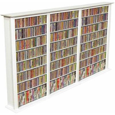 Large Triple Multimedia Storage Rack Finish: White