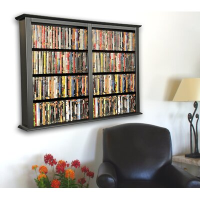 Double Wall Mounted Storage Rack Finish: Black