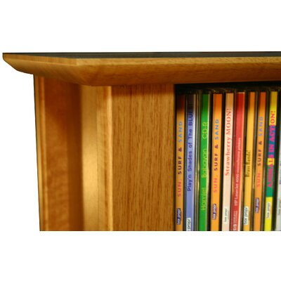 Double Wall Mounted Storage Rack Finish: Cherry