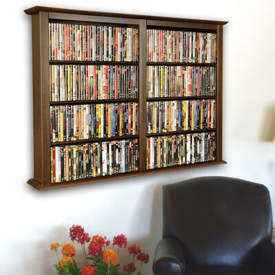 Double Wall Mounted Storage Rack Color: Walnut
