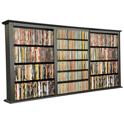 Triple Wall Mounted Storage Rack Finish: Black