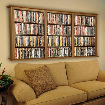 Triple Wall Mounted Storage Rack Color: Oak
