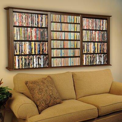 Triple Wall Mounted Storage Rack Color: Walnut