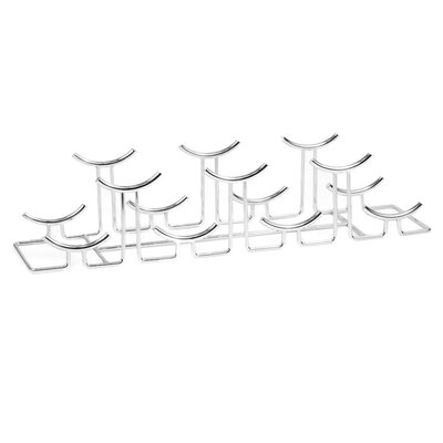 7 Bottle Tabletop Wine Rack Finish: Chrome