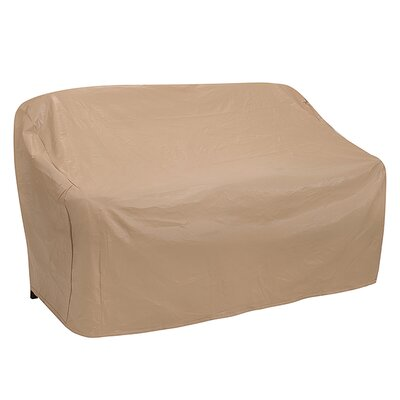 Wicker Patio Sofa Cover Size: 35 H x 58 W x 35 D, Color: Tan