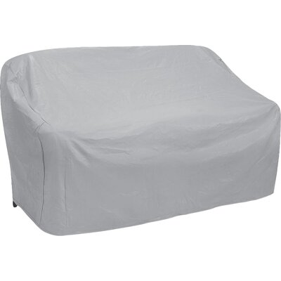 Wicker Patio Sofa Cover Size: 35 H x 58 W x 35 D, Color: Gray
