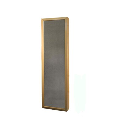 Wall Mounted Jewelry Armoire with Mirror Color: Gold