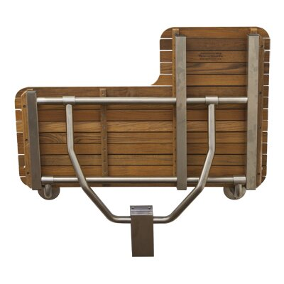 Shower Chair Orientation: Right Facing, Type: Plantation Teak
