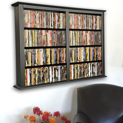 Double Wall Mounted Storage Rack Color: Black