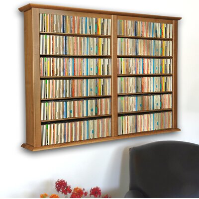 Double Wall Mounted Storage Rack Color: Oak