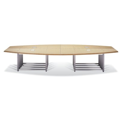 Boat-Shaped Conference Table Size: 29 H x 144 W x 56 D
