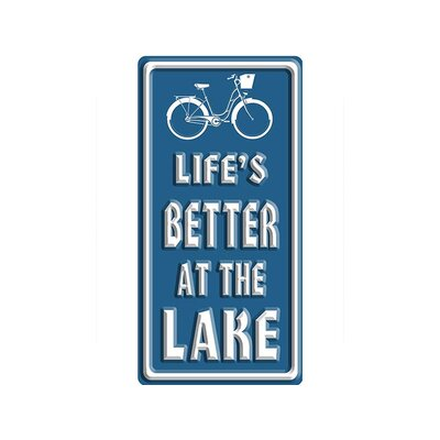 'Life is Better at the Lake*Bike' Textual Art W14-GT060