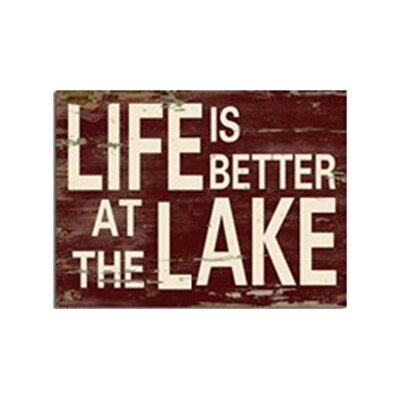 'Life is Better at the Lake' Textual Art LNTS2752 40572095